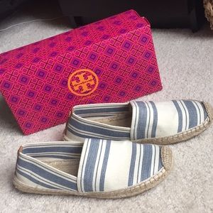 Tory Burch striped espadrilles ivory/navy